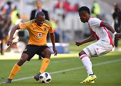 Cape Town-180512  Ajax Cape Town defender Rodrick Kabwe  challenges Bernard Parker in the last game of the PSL at Cape Town stadium.photographer:Phando Jikelo/African News Agency/ANA