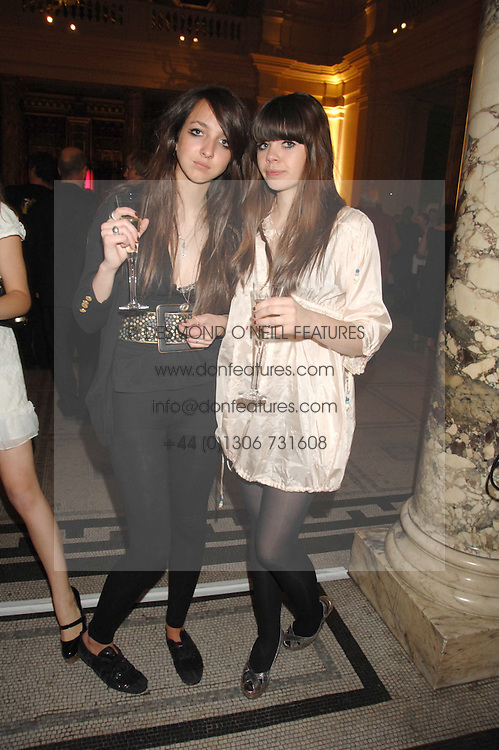 Left to right,TISH WEINSTOCK and JESS DRAPER at a party to celebrate the 150th anniversary of the V&A museum, Cromwell Road, London on 26th June 2007.<br />