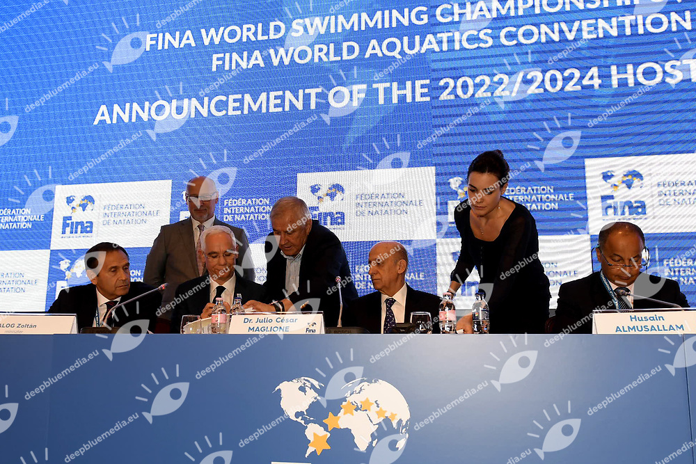 Budapest Bid <br /> FINA Bids for 2022 and 2024 Swimming Short Course Championships<br /> 17/07/2017 <br /> XVII FINA World Championships Aquatics<br /> Hotel Intercontinental Budapest Hungary July 15th - 30th 2017 <br /> Photo G.Scala/Deepbluemedia/Insidefoto