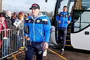 Forest Green Rovers midfielder Charlie Cooper (15)  arrives during the EFL Sky Bet League 2 match between Lincoln City and Forest Green Rovers at Sincil Bank, Lincoln, United Kingdom on 30 December 2017. Photo by Simon Davies.