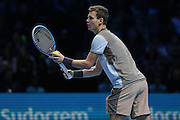 Tomas Berdych during the Barclays ATP World Tour Finals at the O2 Arena, London, United Kingdom on 15 November 2015. Photo by Phil Duncan.