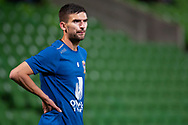 Newcastle Jets midfielder Steven Urgakovic (6) during warm up at the FFA Cup Round 16 soccer match between Melbourne City FC v Newcastle Jets at AAMI Park in Melbourne.