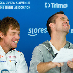 20100920: SLO, Tennis - Press conference of Slovenia day after winning the Lithuania in Davis Cup