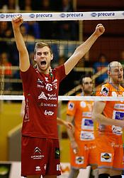 20141029 BEL: Eredivisie, Callant Antwerpen - Volley Behappy2 Asse - Lennik: Antwerpen<br />Gijs Jorna (10) of Callant Antwerpen<br />©2014-FotoHoogendoorn.nl / Pim Waslander