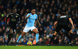 Raheem Sterling of Manchester City takes on Aleksandar Dragovic of Leicester City - Mandatory by-line: Matt McNulty/JMP - 10/02/2018 - FOOTBALL - Etihad Stadium - Manchester, England - Manchester City v Leicester City - Premier League