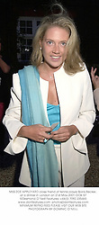 MISS ZOE APPLEYARD close friend of tennis player Borris Becker, at a dinner in London on 21st May 2001.OOK 57