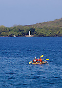 Kayaking to Captain Cook Monument.