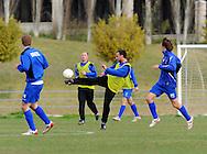 06-01-2009 Voetbal:Willem II:Trainingskamp:Torremolinos:Spanje<br /> Mehmet Akg&uuml;n met een fraaie trap<br /> Foto: Geert van Erven