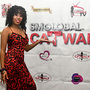 Shaneen Angeles is a singer backstage at SMGlobal Catwalk - London Fashion Week F/W19 at Clayton Crown Hotel,  Cricklewood Broadway, on 1st March 2019, London, UK.