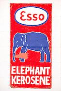 Historic Route 66, Tucumcari, New Mexico, Esso sign on historic gas station