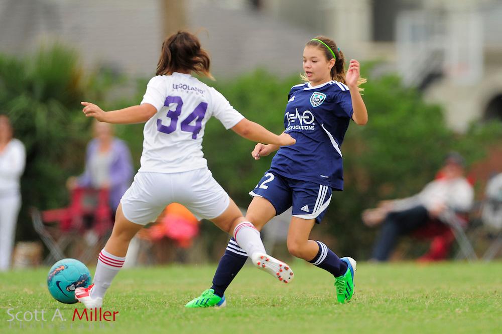 VSI U14 girls vs. OCYS in CDL at Seminole Soccer Complex in Sanford, Florida April 20, 2013. .©2013 Scott A. Miller