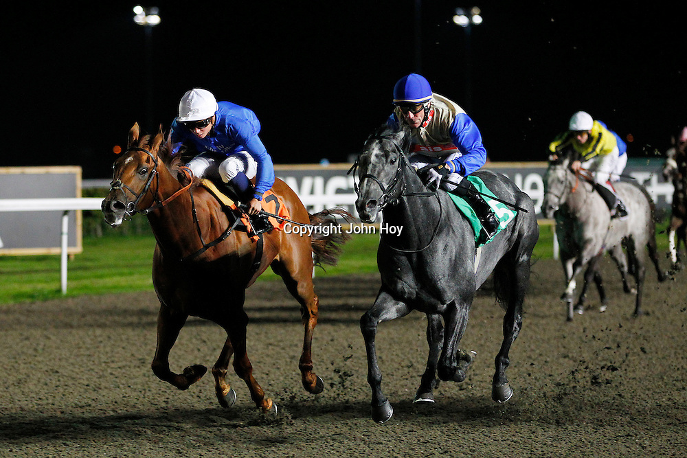 Diamond Wine and Kieren Fallon winning the 7.50 race