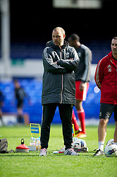 LIVERPOOL, ENGLAND - Tuesday, March 6, 2012: Liverpool's reserve team head coach Rodolfo Borrell before the FA Premier Reserve League match against Everton at Goodison Park. (Pic by David Rawcliffe/Propaganda)