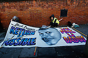 Vigil held for Mark Duggan outside Tottenham police station after a jury returned a verdict of 'lawful killing'.<br />
