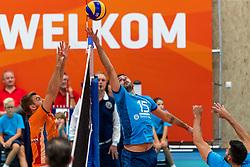 08-09-2018 NED: Netherlands - Argentina, Ede<br /> Second match of Gelderland Cup / Gijs Jorna #7 of Netherlands, Luciano De Cecco #15 of Argentina