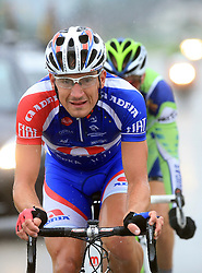 Jure Zrimsek of Slovenia (Adria Mobil) escaped but he was caught in Novo mesto in last 4th stage of the 15th Tour de Slovenie from Celje to Novo mesto (157 km), on June 14,2008, Slovenia. (Photo by Vid Ponikvar / Sportal Images)/ Sportida)