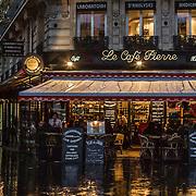 Le Cafe Pierre, Boulevard Magenta, Paris, France