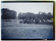 military horse jumping event France 1920s