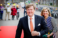 GRONINGEN - King Willem-Alexander, Queen Maxima, Princess Beatrix and Prince Constantijn during the King's Day concert in the Groningen Oosterpoort. copyrught robin utrecht