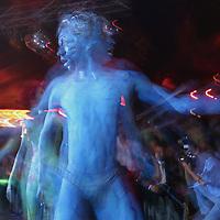 Metepec, Méx.- Espectaculo performance con bodypaint en una discoteque de la ciudad de Metepec. Agencia MVT / Mario Vazquez de la Torre. (DIGITAL)<br /> <br /> NO ARCHIVAR - NO ARCHIVE