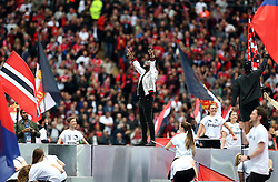 Musician Tinie Tempah performs at Wembley - Mandatory by-line: Robbie Stephenson/JMP - 21/05/2016 - FOOTBALL - Wembley Stadium - London, England - Crystal Palace v Manchester United - The Emirates FA Cup Final