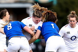 Sarah Bern of England Women is tackled - Mandatory by-line: Robbie Stephenson/JMP - 10/02/2019 - RUGBY - Castle Park - Doncaster, England - England Women v France Women - Women's Six Nations