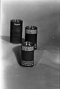 22-23/06/1965<br /> 06/22-23/1965<br /> 22-23 June 1965<br /> Winning packages for the Irish Packaging Institute. Tins of Rovendal, for the prevention and treatment of white scour in calves by Hygeia Ltd.