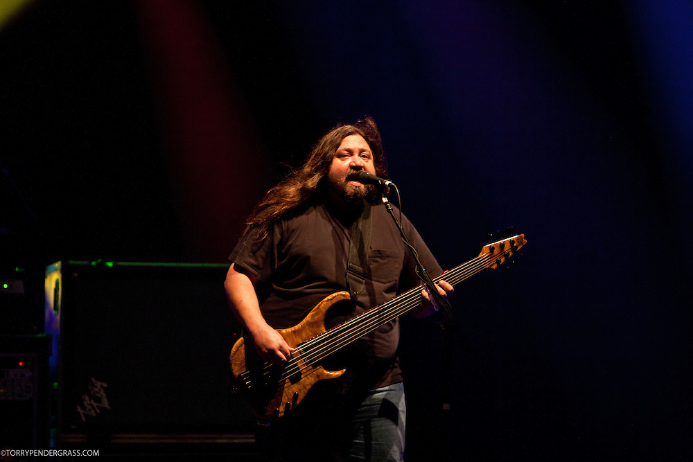 Dave Schools of Widespread Panic performs at the Wiltern Theatre on July 12, 2011 in Los Angeles, CA.