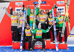 Overall World Cup Team winning team of Noway celebrate during trophy ceremony after the Flying Hill Individual Event at 4th day of FIS Ski Jumping World Cup Finals Planica 2013, on March 24, 2013, in Planica, Slovenia. (Photo by Vid Ponikvar / Sportida.com)