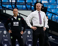 Ian Woan assistant manager and Sean Dyche manager of Burnley during the Premier League match at the Etihad Stadium, Manchester. Picture date: 22nd February 2020. Picture credit should read: Andrew Yates/Sportimage