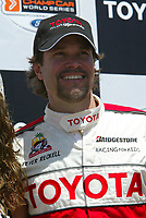 Apr 12, 2003; Long Beach, CA, USA; Overall race winner PETER RECKELL @ the 27th Annual Pro/Celebrity Race in Long Beach racing Toyota Celica race cars.  Driving 10 laps on a 1.97 mile track along shoreline drive. <br />