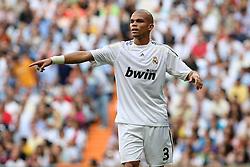 Real Madrid's Pepe during La Liga match.September 2 2009.