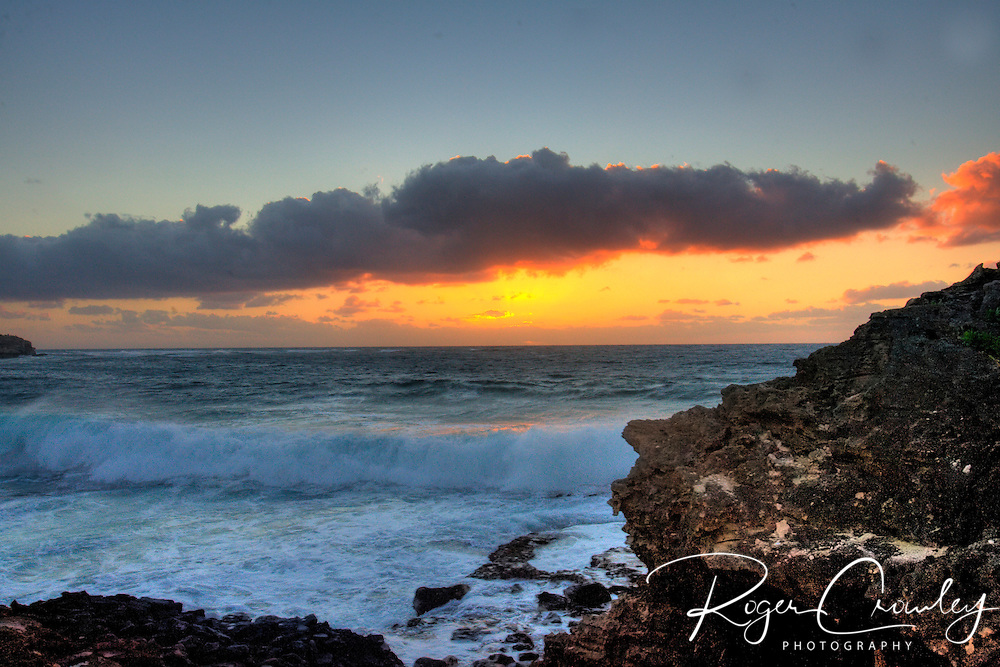 Sunrise on the South Shore of Kaua'i Hawaii.