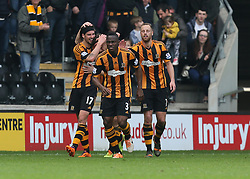 Hull's George Boyd celebrates scoring  the first goal - Photo mandatory by-line: Matt Bunn/JMP - Tel: Mobile: 07966 386802 05/04/2014 - SPORT - FOOTBALL - KC Stadium - Hull - Hull City v Swansea City- Barclays Premiership