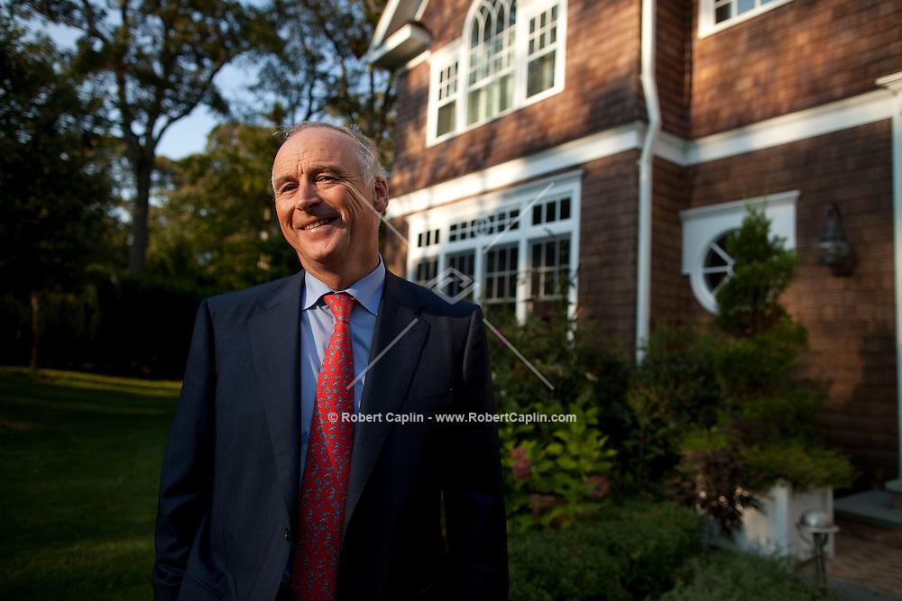 John Fitzpatrick in his home in The Hanptons in New York. ..Photo by Robert Caplin.