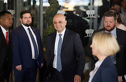 © Licensed to London News Pictures. 15/06/2019. London, UK. Leadership candidate and Home Secretary SAJID JAVID is seen leaving a leadership hustings in Westminster, central London. Former Foreign Secretary and figurehead of the leave campaign, Boris Johnson has cemented his position as favourite to become the next Prime Minster after winning a landslide in the first round of the conservative party's leadership race. Photo credit: Ben Cawthra/LNP