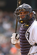 Apr 11, 2006; Detroit, MI, USA:  Detroit Tiger catcher Ivan Rodriguez, Comerica Park vs. Chicago White Sox.
