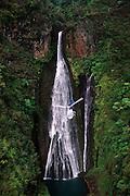 Helicopter, Manawaipuni Falls, Kauai, Hawaii