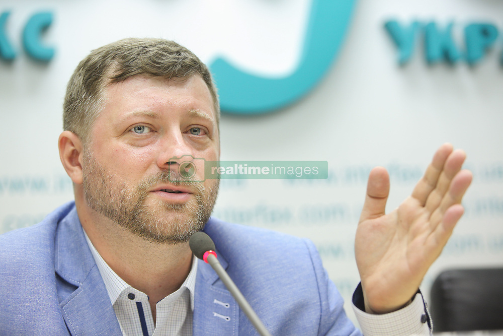 May 27, 2019 - Kyiv, Ukraine - The the head of campaign headquarter of the political party 'Servant of the People' Oleksandr Korniyenko, attends a press conference in Kyiv, Ukraine, 27 May 2019. Officials of 'Servant of the People' political party announced the start of their party participation in the Parliament elections campaign after President Zelensky had dismissed the Ukrainian Parliament on 21 May 2019 and called for early elections for 21 July 2019. (Credit Image: © Sergii Kharchenko/ZUMA Wire)