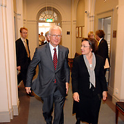 NLD/Den Haag/20070412 - Visit of Mr. Hans-Gert Pöttering, president of the European parliament to The Hague, with Mrs.Gerti Verbeet, president of the House of Representatives of States Gerneral..NLD/Den Haag/20070412 - President Europees Parlement Hans-Gert Pöttering bezoekt Den Haag, ontmoeting met de voorzitter van de 2de Kamer, Mw. Gerdi Verbeet.  ** foto + verplichte naamsvermelding Brunopress/Edwin Janssen  **