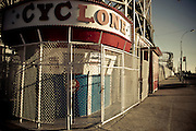 The entrance of the tickets booth for the Cyclone roller coaster in Coney Island amusement park, Brooklyn, New York, 2010.