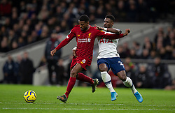 LONDON, ENGLAND - Saturday, January 11, 2020: Liverpool's Georginio Wijnaldum (L) and Tottenham Hotspur's Serge Aurier during the FA Premier League match between Tottenham Hotspur FC and Liverpool FC at the Tottenham Hotspur Stadium. (Pic by David Rawcliffe/Propaganda)