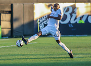 Swope Park Rangers defender Mark Segbers(43) looks to intercept a pass during a USL soccer game, Sunday, May 26, 2019, in St. Petersburg, Fla. The Rowdies defeated the Rangers 1-0. (Brian Villanueva/Image of Sport)