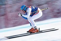 KITZBUHEL AUSTRIA. 22-01-2011. Christof Innerhofer (ITA) speeds down the course competing in the 71st Hahnenkamm downhill race part of  Audi FIS World Cup races in Kitzbuhel Austria.  Mandatory credit: Mitchell Gunn