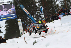 14.02.2015, Karlstad, Karlstad, SWE, FIA, WRC, Schweden Rallye, im Bild Robert Kubica/Maciej Szczepaniak (RK M-Sport WRT/Fiesta RS WRC) // during the WRC Sweden Rallye at the Karlstad in Karlstad, Sweden on 2015/02/14. EXPA Pictures © 2015, PhotoCredit: EXPA/ Eibner-Pressefoto/ Bermel<br /> <br /> *****ATTENTION - OUT of GER*****