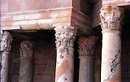 Libia  Sabratha .Città  romana a circa 67km da Tripoli.Teatro Romano,  particolare delle colonne.<br /> Sabratha Libya.Roman city about 67km from Tripoli.Roman Theatre, particular column.
