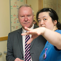 Health Secretary Alex Neil visit to Ward 4, Ninewells Hospital, Dundee...16.01.13<br /> Alex Neil pictured with Charge Nurse Charlene Wong on Ward 4<br /> Picture by Graeme Hart.<br /> Copyright Perthshire Picture Agency<br /> Tel: 01738 623350  Mobile: 07990 594431