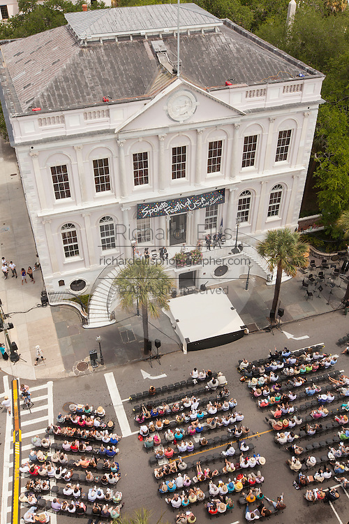Overview of the City Hall of Charleston during opening ceremonies for the Spoleto Festival USA on May 25, 2012 in Charleston, South Carolina. The 17-day performing arts festival will include more than 140 performances on stages throughout Charleston.