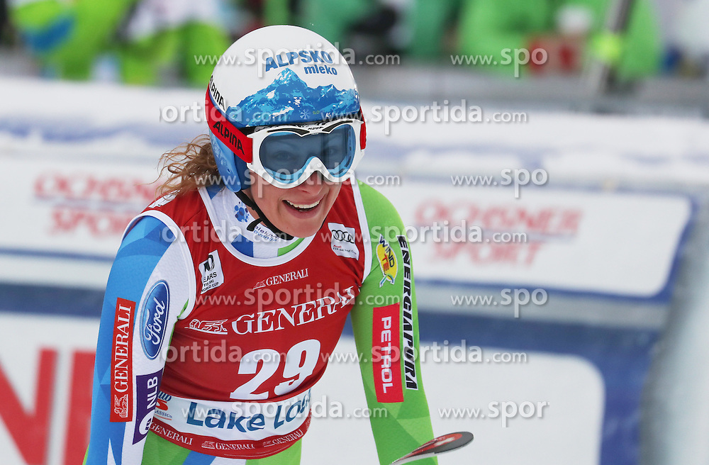 02.12.2016, Lake Louise, USA, FIS Weltcup Ski Alpin, Lake Louise, Abfahrt, Damen, im Bild Ilka Stuhec (SLO) // Ilka Stuhec of Slovenia during Women's Downhill of the Lake Louise FIS Ski Alpine World Cup. Lake Louise, United States on 2016/12/02. EXPA Pictures &copy; 2016, PhotoCredit: EXPA/ SM<br /> <br /> *****ATTENTION - OUT of GER*****