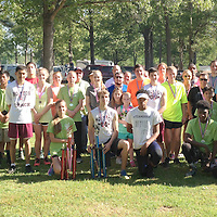 (Coutesy Photo)<br /> Runners in the Team Hope 2016 5K Run/Walk stand for a group photo Saturday morning, April 23, 2016 at Joe Brigance Park. The Houston Spring Flywheel Festival event has become a favorite for runners across Northeast Mississippi.